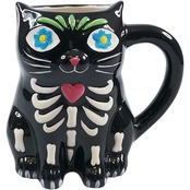 Gibson Home Day of the Dead Dante Figural Mug