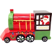 Gibson Home Santa Train Cookie Jar