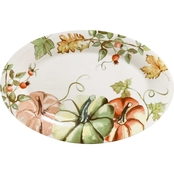 Gibson Home Country Harvest Oval Serving Tray