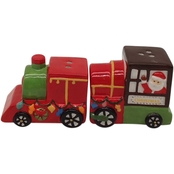 Gibson Home Santa Train Salt and Pepper Shakers