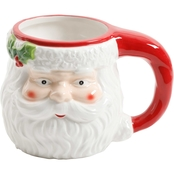 Gibson Home Santa With Mistletoe Jolly Jar 18.9 oz. Mug
