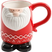 Gibson Home Jolly Jar Santa 18.8 oz. Mug