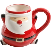 Gibson Home Jolly Jar 16.9 oz. Belly Santa Mug