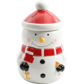 Gibson Home Jolly Jar 8 in. Snowman Canister