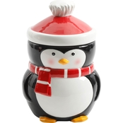 Gibson Home Jolly Jar 7.5 in. Penguin Canister