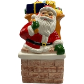 Gibson Home Santa's Gift 10.5 in. Figural Cookie Jar with Lid