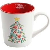 Gibson Home Christmas Tree 15.5 oz. Mug