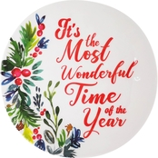 Gibson Home Sentiments It's the Most Wonderful Time of the Year 8 in. Snack Plate
