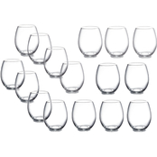 Gibson Home Imagination 18 oz. Stemless Wine Glass 16 pc. Set