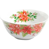 Gibson Home Poinsettia Serving Bowl