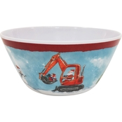 Gibson Home Bulldozer Santa 6 in. Melamine Bowl