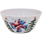 Gibson Home Snow Angel 6 in. Cereal Bowl