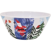 Gibson Home Skiing 6 in. Cereal Bowl