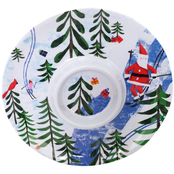 Gibson Home Outdoor Santa 12 in. Melamine Chip & Dip Plate