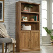 Sauder 5 Shelf Small Bookcase with Doors