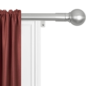 Maytex Home Smart Rods Easy Install Window Drapery Curtain Rod with Ball Finials