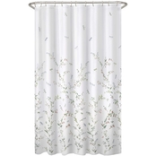 Maytex Dragonfly Garden Fabric Shower Curtain 70 x 72 in.