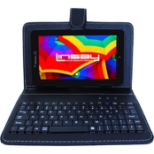 Linsay 7 in. Android 10 Quad Core 16GB Tablet with Black Keyboard