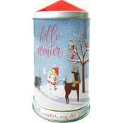Hello Winter Canister Musical Cookie Tin
