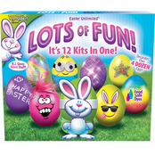 Fun World Egg Deco Kit 12 Kits in 1