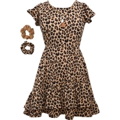 Bonnie Jean Girls Animal Print Flutter Dress