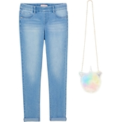 Squeeze Girls 5 Pocket Skinny Jeans with Unicorn Crossbody Bag