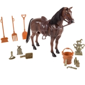 Hey! Play! Toy Horse and Saddle with Accessories
