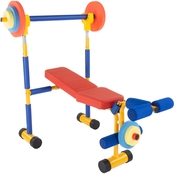 Hey! Play! Bench and Leg Press Weightlifting Toy