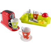 Hey! Play! Coffee Maker Pretend Kitchen 21 pc. Toy Set