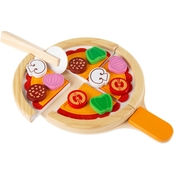 Hey! Play! Pretend Play Pizza Set Wooden Toy Food