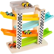 Hey! Play! Toy Ramp Race Track and Racecar Set