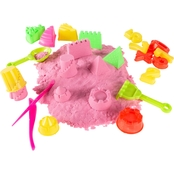 Hey! Play! 2 lb. Pink Moldable Kinetic Sand Play Activity Set
