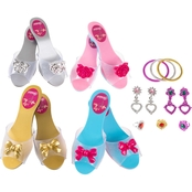 Hey! Play! Princess Dress Up Shoes and Jewelry Accessory 12 pc. Set