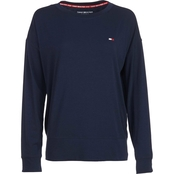 Tommy Hilfiger Sport Drop Shoulder Small Flag Sweatshirt