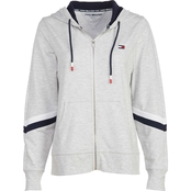 Tommy Hilfiger Sport Zip Up Hoodie with Diagonal Stripe Blocking