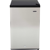 Whynter 3.0 cu.ft. Energy Star Stainless Steel Upright Freezer with Lock