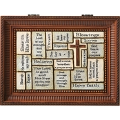 Roman Crossword Brown LG Music Box