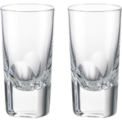 Rogaska Manhattan Shot Glass 2 oz. Set of 2