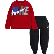 Nike Toddler Boys Dri-FIT Thermal Tee and Jogger Pants 2 pc. Set