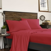 IZOD Varisty Solid Queen Red Sheet Set