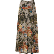 Passports Floral Fit and Flare Maxi Skirt
