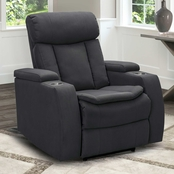 Abbyson Caprice Fabric Theater Power Recliner