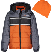 London Fog Colorblock Puffer Jacket