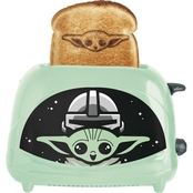 Star Wars Mandalorian The Child 2 Slice Toaster Toasts Baby Yoda onto Your Toast!