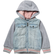 Urban Republic Toddler Girls Denim Jacket with Hood