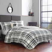 Eddie Bauer Coal Creek Plaid White Quilt Set
