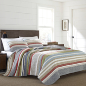 Eddie Bauer Salmon Ladder Stripe Quilt Set