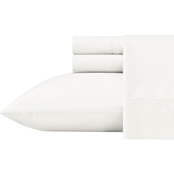 Ellen DeGeneres Washed Organic Cotton Solid White Sheet Set