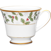 Noritake 8 oz. Holly and Berry Gold Coffee and Tea Cup