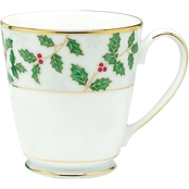 Noritake 12 oz. Holly and Berry Gold Mug